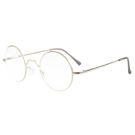 ccc935c38f97 Shop Eyekepper Spring Hinges Round Reading Glasses Silver +3.0 - Free  Shipping On Orders Over  45 - Overstock.com - 15946956