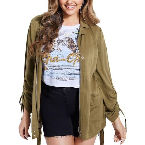Guess Womens Jacket Cargo Fall - Sergeant Green - L