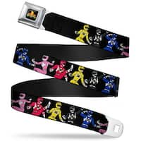 Power Rangers Logo Full Color Power Rangers Posing Webbing Seatbelt Belt Seatbelt Belt