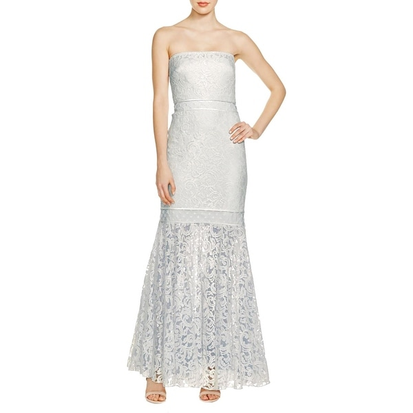 Shop Tadashi Shoji Womens Formal Dress Lace Overlay Strapless Free