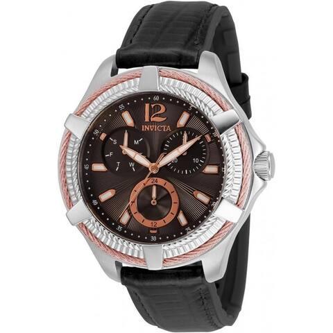 Invicta Women's 30890 'Bolt' Black Leather Watch