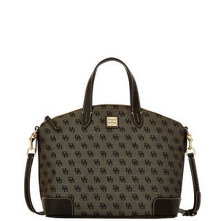 Dooney & Bourke Madison Signature Large Gabriella (Introduced by Dooney & Bourke at $228 in Nov 2015) - Black|https://ak1.ostkcdn.com/images/products/is/images/direct/fde6e57ffd003bb9c98df686d8eccaaa40fe2975/Dooney-%26-Bourke-Madison-Signature-Large-Gabriella.jpg?impolicy=medium