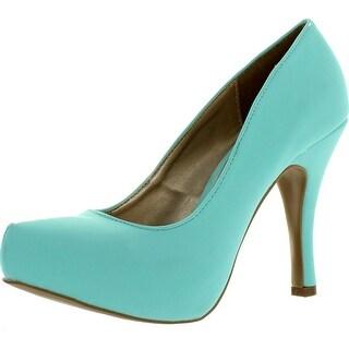 Qupid Trench-01 Womens Classic Basic Platform High Heel Pumps