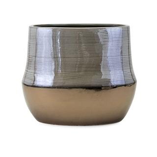 IMAX Home 25490  Nabila Short Ceramic Vase - Multi-Colored