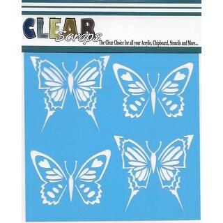 """Clear Scraps Stencils 12""""X12""""-Swallowtail Butterfly"""