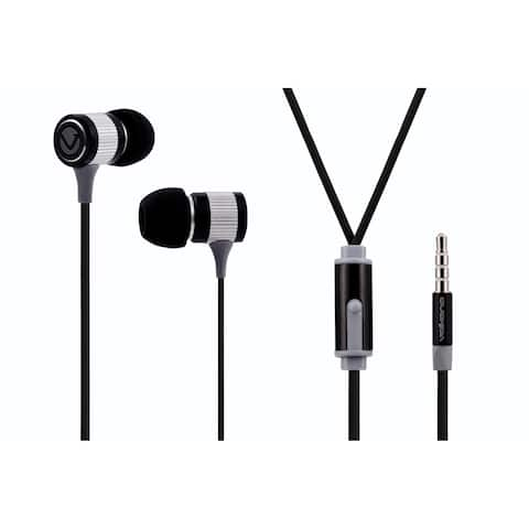 Volkano Metallic Series Earphones (Black)