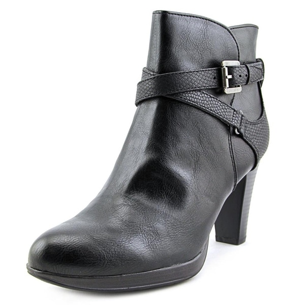 Rialto Pamela Women Round Toe Synthetic Black Ankle Boot