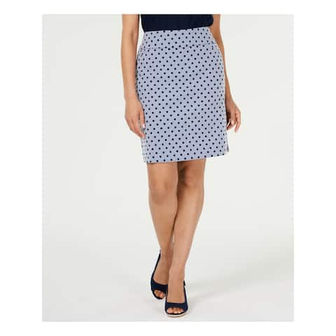 CHARTER CLUB Blue Above The Knee A-Line Skirt Size 18