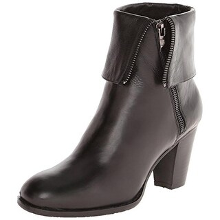 Everybody by BZ Moda Womens Pabba Ankle Boots Leather Fold-Over