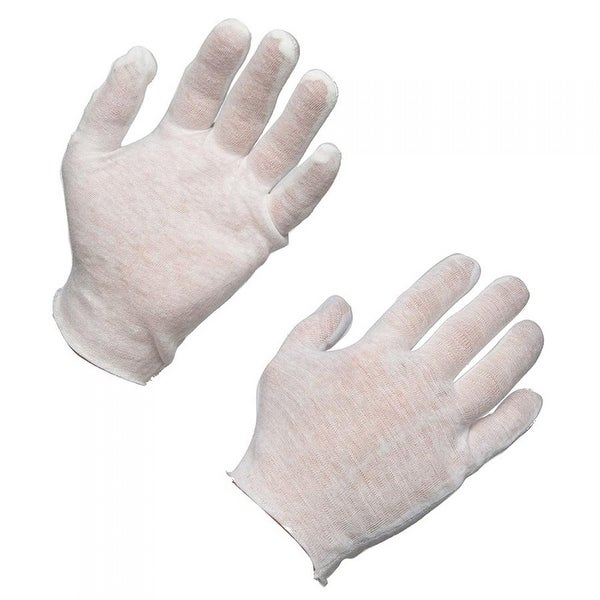 AMMEX CIG Cotton Inspection Work Gloves (Case of 12 pairs)