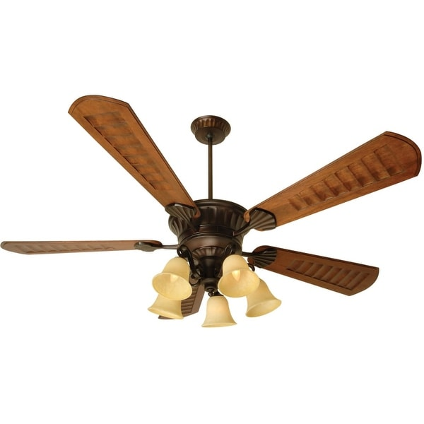 """Craftmade K10685 DC Epic 70"""" 5 Blade Ceiling Fan - Blades, Remote and Light Kit Included - Oiled Bronze"""