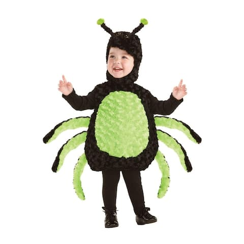 Belly Babies Black & Green Spider Costume Child Toddler