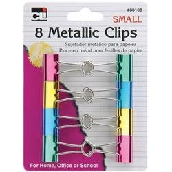 Assorted Metallics - Mini Binder Clips 12/Pkg