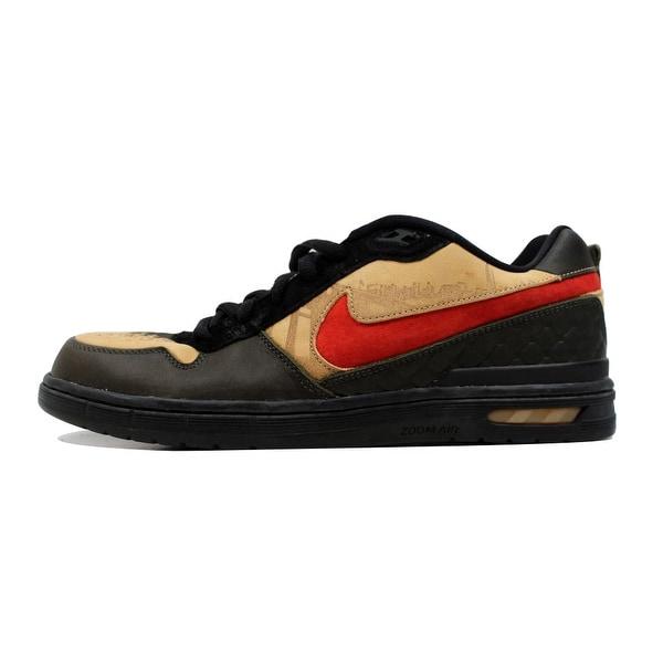 Nike Men's Paul Rodriguez Zoom Air Elite Honey Wheat/Pimento-Deep Green Stash 312953-261 Size 13