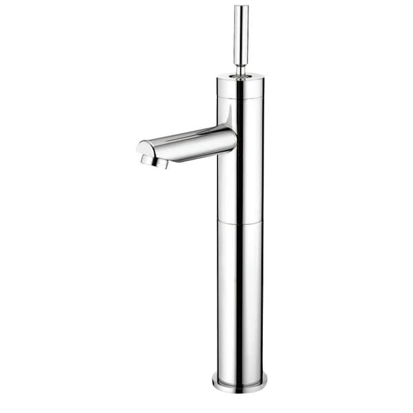 Kingston Brass FS821.DL Concord 1.2 GPM Vessel Bathroom Faucet with Metal Joystick Handle - Polished Chrome