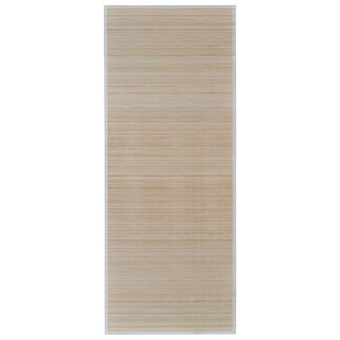"vidaXL Rectangular Natural Bamboo Rug 31.5"" x 78.7"""