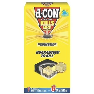 D-Con 1920089479 Corner Fit Bait Station with 6 Refills