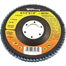 Forney 40G Blue Zir Flap Disc