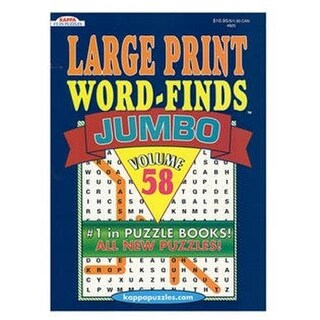 Kappa Jumbo Large Print Word Finds Puzzle Book - 48 Case