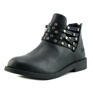 Blowfish Kujan Youth Round Toe Synthetic Black Ankle Boot