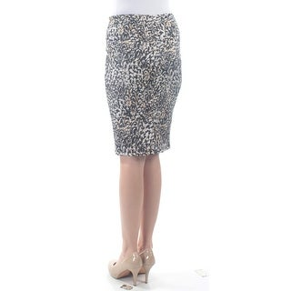 Womens Black Printed Above The Knee Tulip Skirt Size 2XS