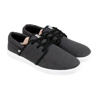 DC Haven Mens Black Textile Lace Up Sneakers Shoes