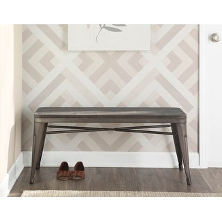 Link to Carbon Loft Reed Backless Bench in Wood & Metal Similar Items in Living Room Furniture