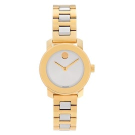 Movado Women's Slightly Blemished 3600336 'Bold' Sunray Dial Two-tone Bracelet Watch