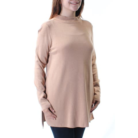 ALFANI Womens Brown Long Sleeve Turtle Neck Top Size: S