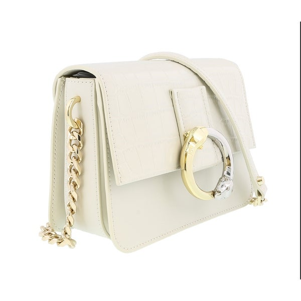 Class Roberto Cavalli Paris 001 Off White Small Shoulder Bag - Off White