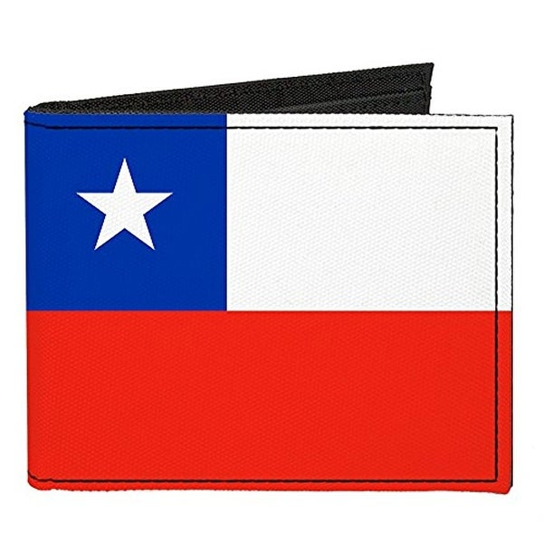 Buckle-Down Canvas Bi-fold Wallet - Chile Flag Accessory
