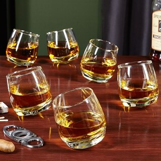 Roly Poly Rocking Whiskey Glasses, Set of 6