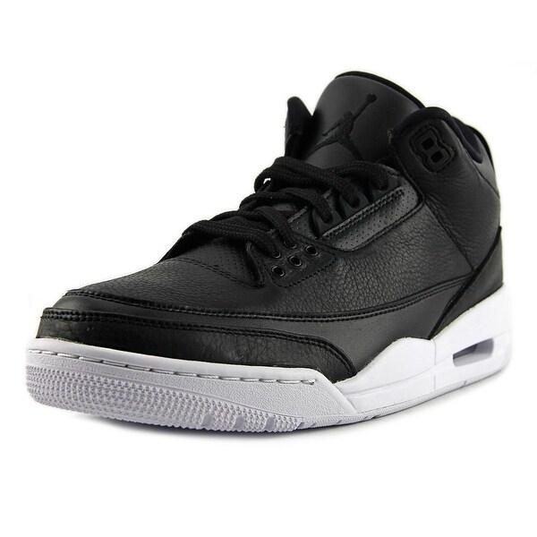 Jordan 3 Retro Men Round Toe Leather Black Basketball Shoe