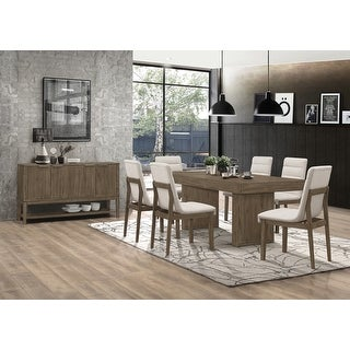 Torrington Grey Tweed and Wheat Brown 7-piece Rectangular Dining Set