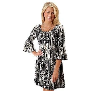 Roper Western Dress Womens L/S Peasant Black 03-057-0514-0523 BL