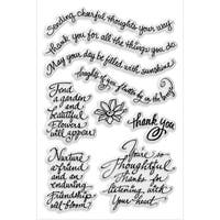 """Stampendous Perfectly Clear Stamps 4""""X6""""-Thoughtful Wishes"""