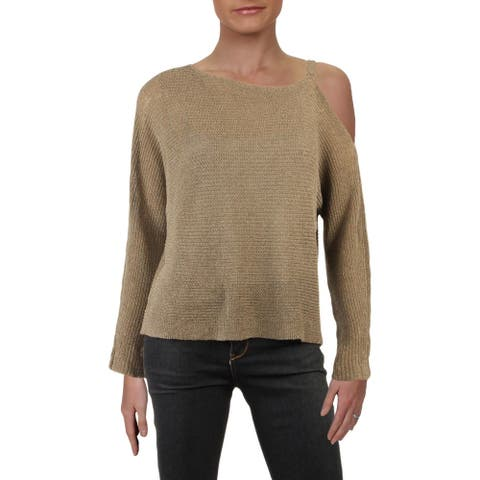 Eileen Fisher Womens Pullover Sweater Off-The-Shoulder Long Sleeves