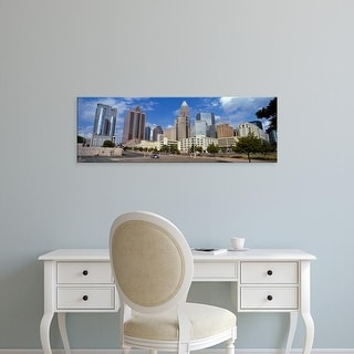 Easy Art Prints Panoramic Image 'Buildings in a city, Charlotte, Mecklenburg County, North Carolina, USA' Canvas Art