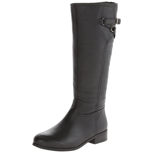 Trotters NEW Black Shoes Size 5M Knee-High Lucky Leather Boots