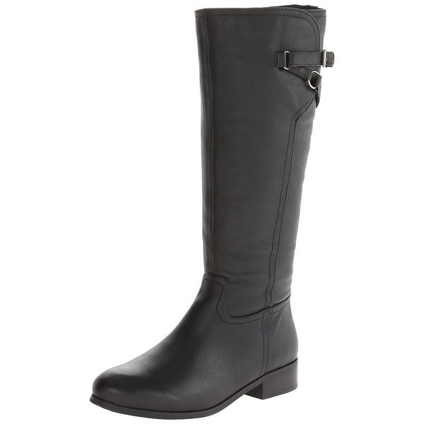 Trotters NEW Black Shoes Size 7N Lucky Knee-High Leather Boots