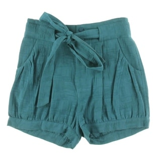 Catherine Malandrino Womens Textured Belted Casual Shorts - 4