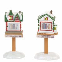 Department 56 Accessories for Village Little Free Libraries Accessory Figurine (Set of 2) (4057578)