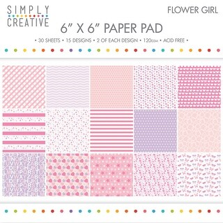 "Simply Creative Paper Pad 6""X6"" 30/Pkg-Flower Girl, 15 Designs/2 Each"