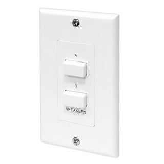 Pyle In-Wall Speaker Selector Switch, Wall Plate Speaker Control