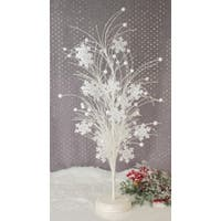 "25"" Winter Frost White Glittered Snowflake Christmas Trees - Unlit"