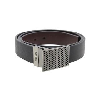 Kenneth Cole Reaction Mens Dress Belt Faux Leather Reversible