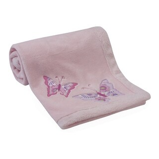 Lambs & Ivy Butterfly Garden Pink Baby Blanket