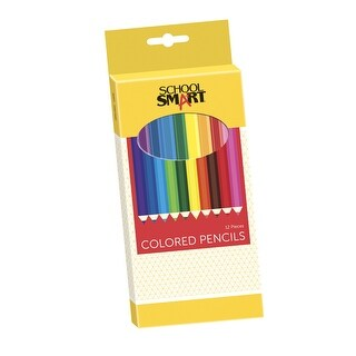 School Smart Colored Pencils, 7 Inches, Assorted Colors, Pack of 12