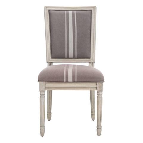 "Safavieh Dining 19-inch Buchanan French Brasserie Linen Rectangular Dining Chair (Set of 2) - 19.5"" x 24"" x 37.8"""