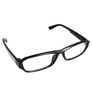 Black Full Frame Metal Detail Clear Lens Lady Glasses